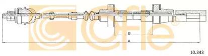 Трос сцепления COFLE 10343