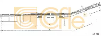 Трос ручного тормоза COFLE 10411