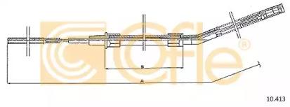 Трос ручного тормоза COFLE 10413