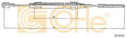 Трос ручного тормоза COFLE 104131