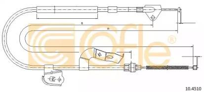 Трос ручного тормоза COFLE 104510