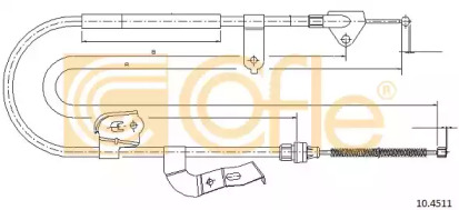 Трос ручного тормоза COFLE 104511