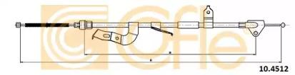 Трос ручного тормоза COFLE 104512