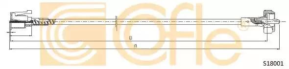 Тросик спидометра COFLE S18001