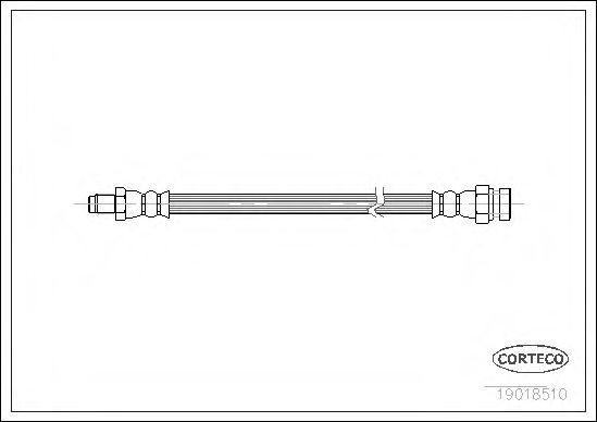 Тормозной шланг CORTECO 19018510