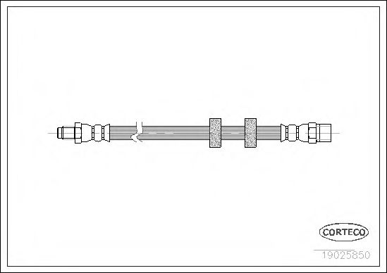 Тормозной шланг CORTECO 19025850