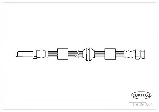 Тормозной шланг CORTECO 19026387