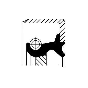 Сальник полуоси CORTECO 19027910B