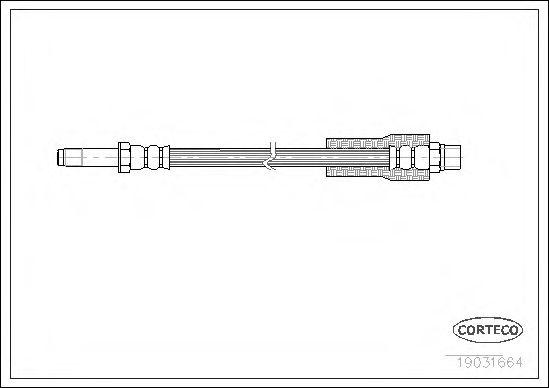 Тормозной шланг CORTECO 19031664