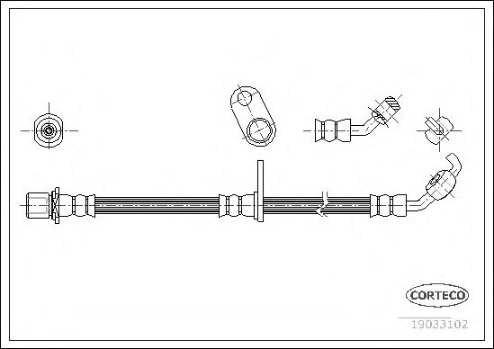 Тормозной шланг CORTECO 19033102