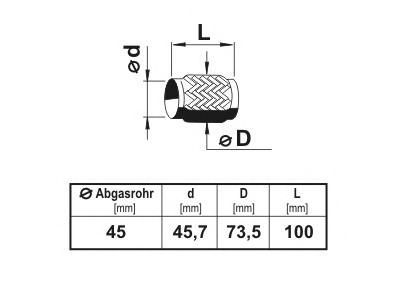Гофра выхлопной системы ERNST 460002