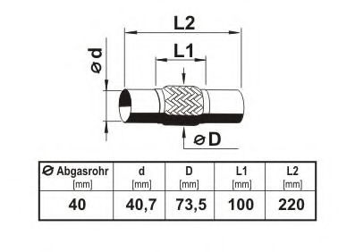 Гофра выхлопной системы ERNST 460149