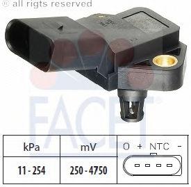 Датчик давления наддува FACET 103075