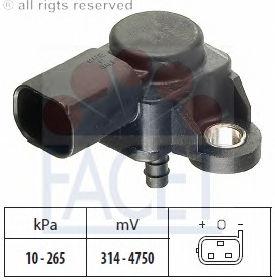 Датчик давления наддува FACET 103165