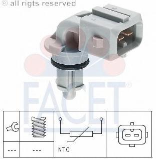 Датчик температуры впускаемого воздуха FACET 104002