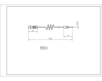 Датчик износа тормозных колодок FI.BA FES14