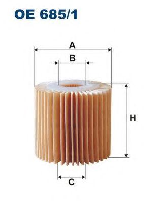 Масляный фильтр FILTRON OE6851