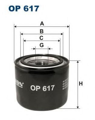Масляный фильтр FILTRON OP617