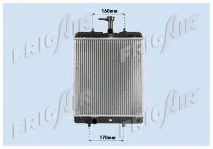Радиатор охлаждения двигателя FRIGAIR 01033068