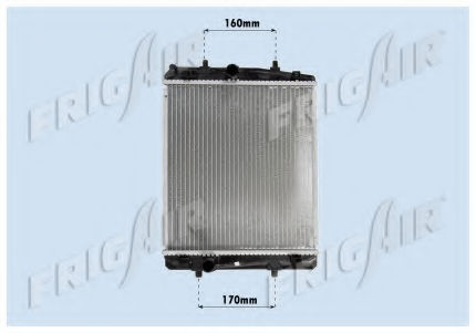 Радиатор охлаждения двигателя FRIGAIR 01033069