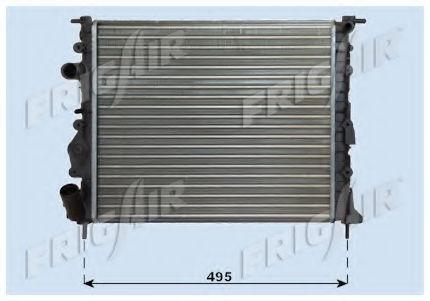 Радиатор охлаждения двигателя FRIGAIR 01093020