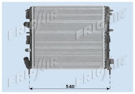 Радиатор охлаждения двигателя FRIGAIR 01093074