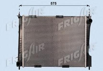 Радиатор охлаждения двигателя FRIGAIR 01093101
