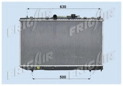 Радиатор охлаждения двигателя FRIGAIR 01153007