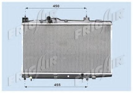 Радиатор охлаждения двигателя FRIGAIR 01153009