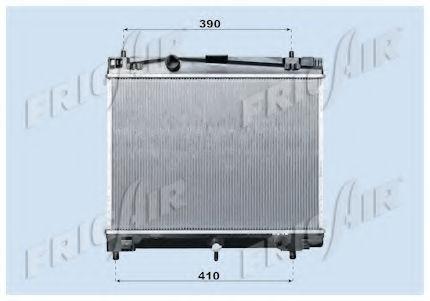 Радиатор охлаждения двигателя FRIGAIR 01153010