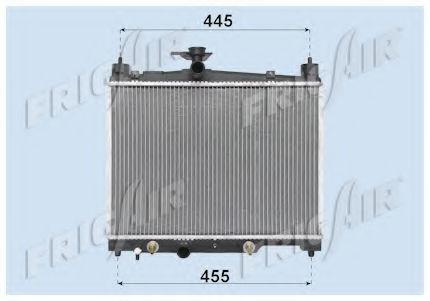 Радиатор охлаждения двигателя FRIGAIR 01153014