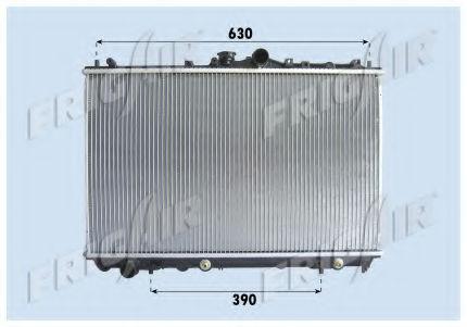 Радиатор охлаждения двигателя FRIGAIR 01163026