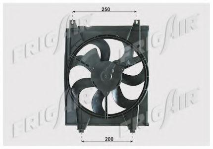 Вентилятор охлаждения двигателя FRIGAIR 05332004