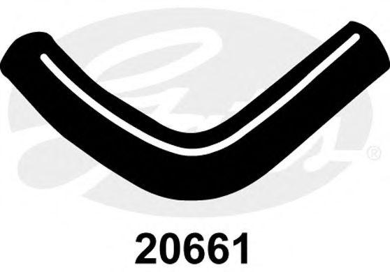 Патрубок радиатора GATES 20661