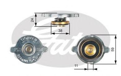 Крышка радиатора GATES RC116