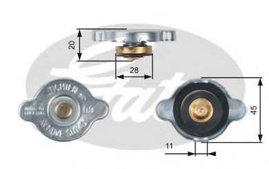 Крышка радиатора GATES RC124