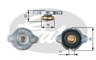 Крышка радиатора GATES RC133