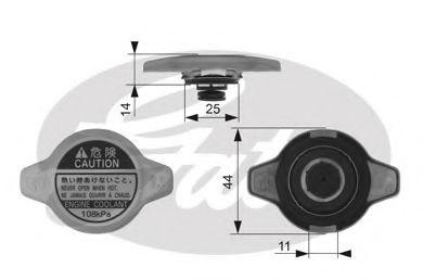 Крышка радиатора GATES RC134