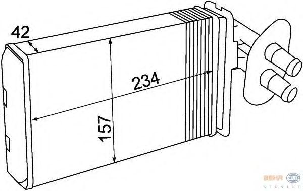 Радиатор печки HELLA 8FH351308741