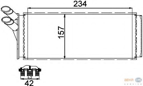 Радиатор печки HELLA 8FH351311421