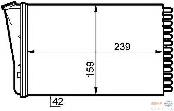 Радиатор печки HELLA 8FH351313291
