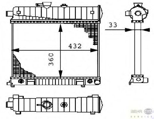 Радиатор охлаждения двигателя HELLA 8MK376710274