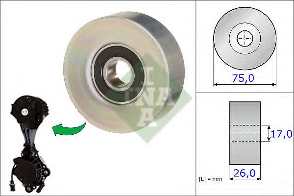 Ролик ремня генератора INA 532067610