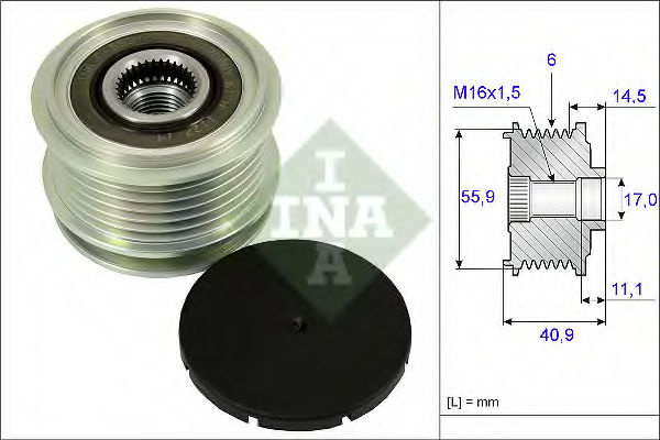 Муфта генератора INA 535001210