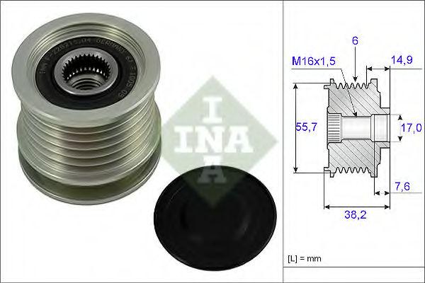 Муфта генератора INA 535001310