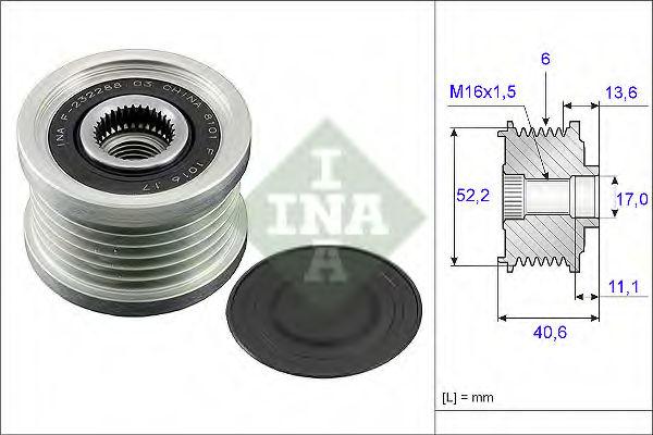 Муфта генератора INA 535004410