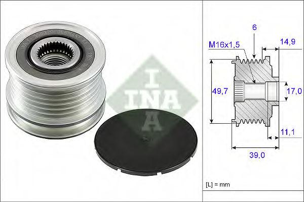 Муфта генератора INA 535005010