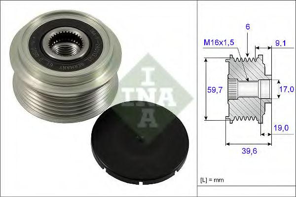Муфта генератора INA 535006510