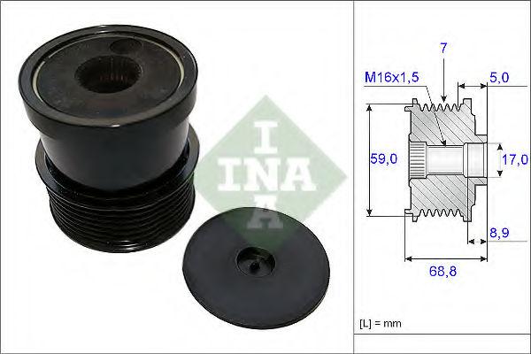 Муфта генератора INA 535007030