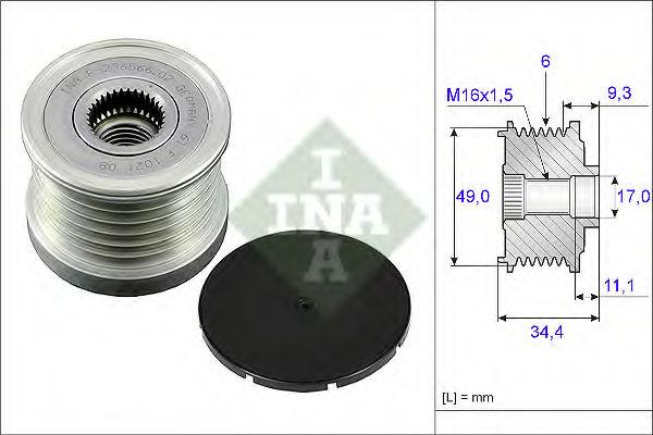 Муфта генератора INA 535007510
